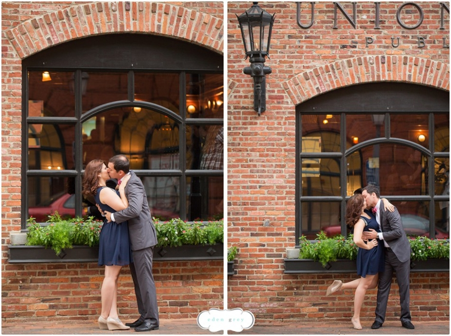 Engagement photos in Old Town Alexandria.