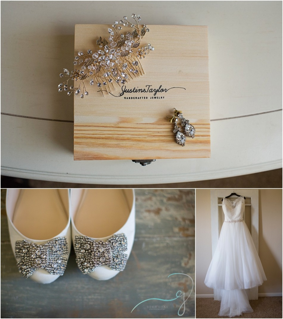 BHLDN hairpieces for weddings, Betsy Johnson wedding shoes, Houston Bridal Gallery wedding dresses
