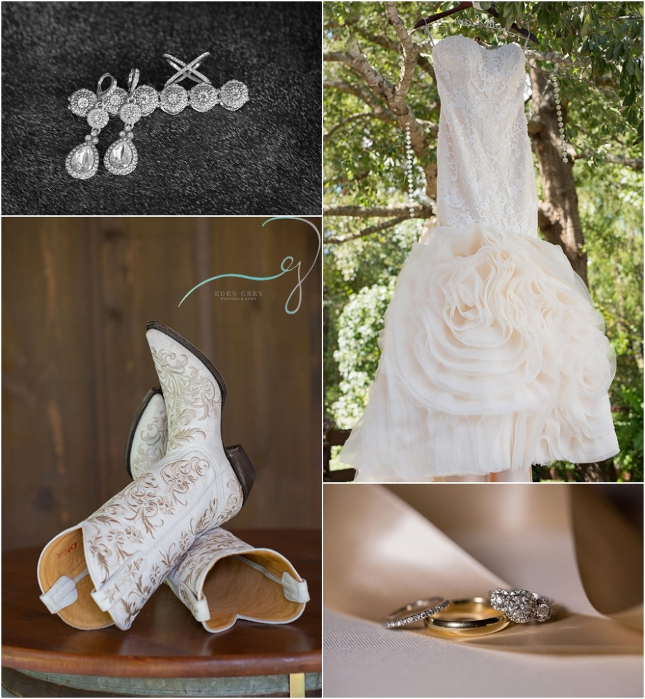 Wedding details, white wedding boots and bling