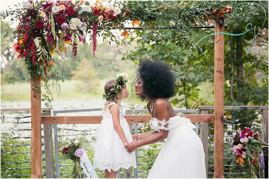 Bride and flower girl inspiration