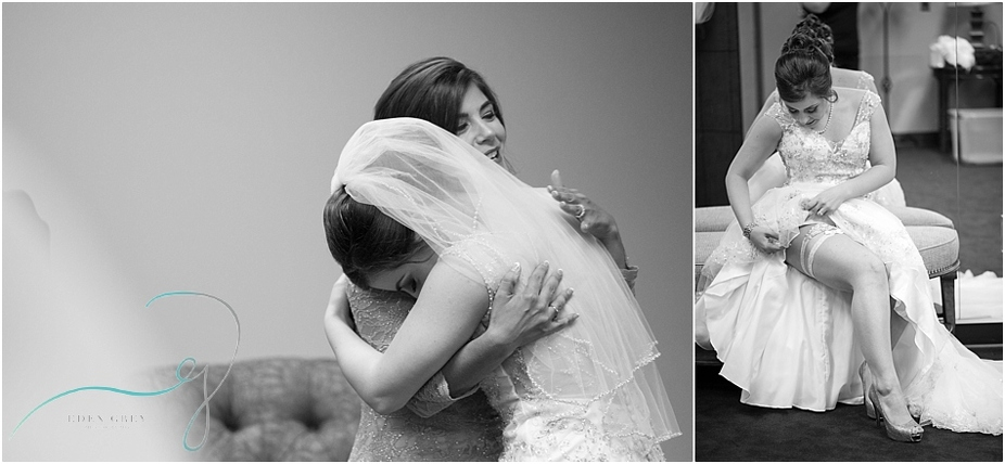 Pictures of the bride getting ready and emotional