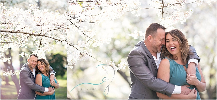 Cherry Blossom Engagement Session