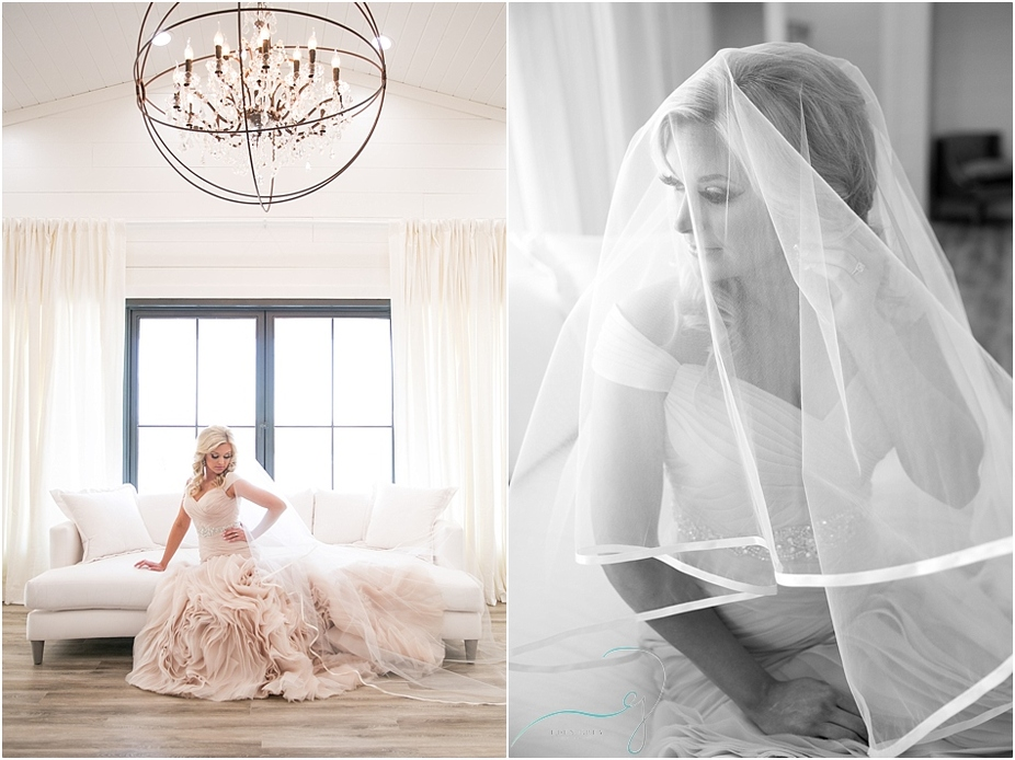 Bridal portraits at The Farmhouse