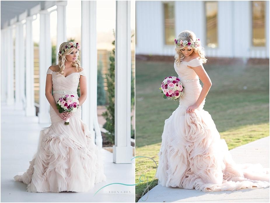 golden hour bridal pictures