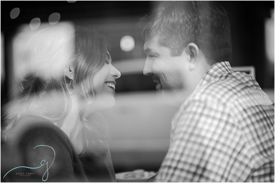Coffee house engagement session