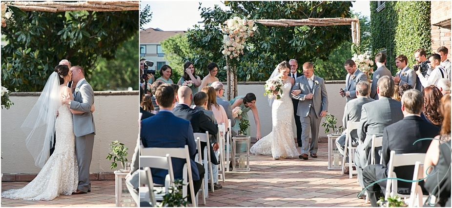 Outdoor ceremony at The Gallery in Houston