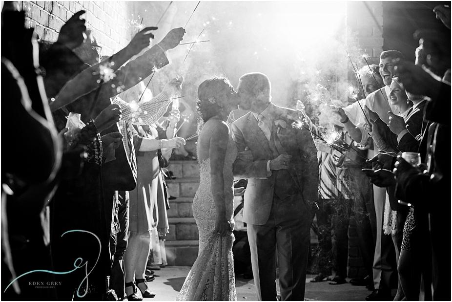 Dramatic Sparkler Wedding Exits