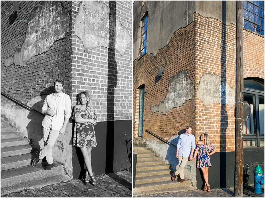 Warehouse district engagement pictures