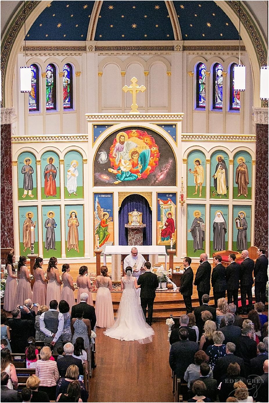 All Saints Catholic Church Wedding in Houston