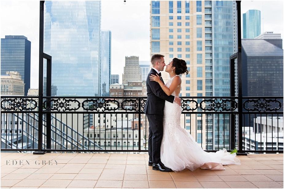 Houston Skyline Wedding Pictures