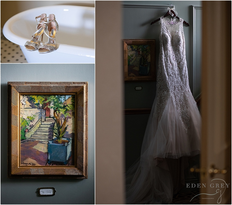 Allure Bridal Gowns, Badgley Mischka Wedding Heels