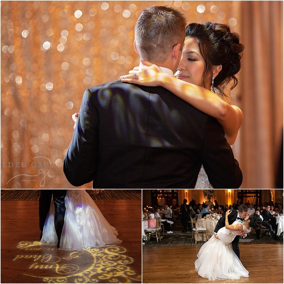 First Dance Wedding Reception at Crystal Ballroom