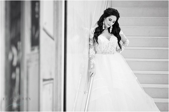 High fashion bridal and wedding portraiture
