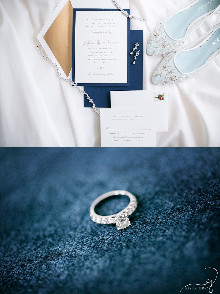 The Magnolia Hotel Houston Wedding, Invitation Suite pictures