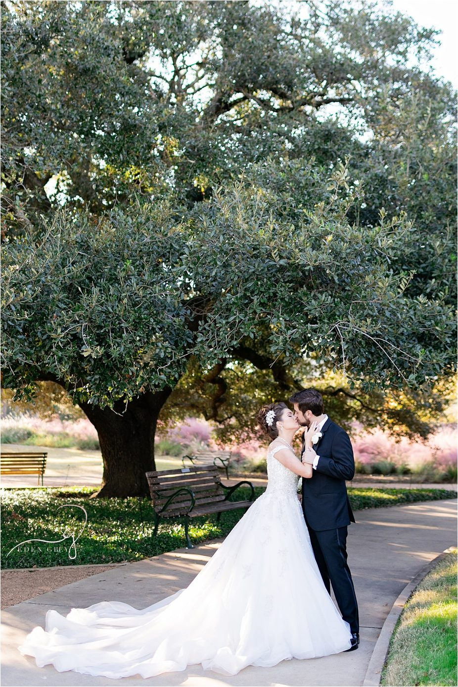 Top Houston Wedding Photographers at McGovern Gardens
