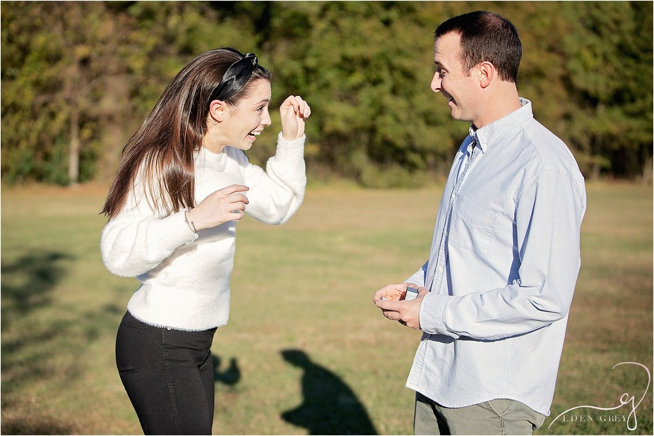 Newly Engaged Pictures Surprise Proposal